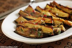 Eggplant appetizers or antipasta. What a great final days of summer, garden party food.