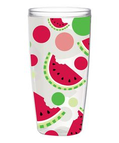 Take a look at this Watermelon 24-Oz. Insulated Tumbler - Set of Four by Boston Warehouse on #zulily today!