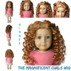 Our Magnificent Curls wig in Ginger. Can have a side or center part.