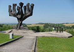 Mauthausen Former Concentration Camp, Austria - The tree is one of many sculpture monuments donated by different countries to remember those who were in the camp