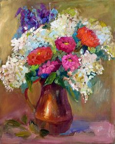 """I added """"Nancy Standlee Fine Art: Zennias"""" to an #inlinkz linkup!http://nancystandlee.blogspot.com/2013/08/hedi-moran-workshop-day-4-fayetteville.html Leslie Saeta is hosting a 30/30 challenge in Sept. Paint 30 paintings in 30 days and I've signed up. Check out her blog to see who is signing up http://lesliesaeta.blogspot.com/2013/08/join-me-for-september-30-paintings-in.html"""