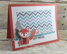 This card is part of our CASE series that we share each Thursday on our blogs. Foxy Friends Stamp Set and Fox Builder Punch #stampinup www.stampstodiefor.com 2