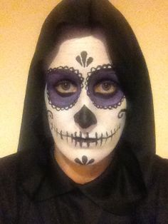 Candy skull face paints