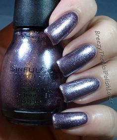 Sinful Colors - Triple Platinum (lavender/silver-grey) | by breezythenailpolishlover