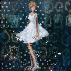 Art Journaling: Paintings by Kim Schuessler Mix Media, Mixed Media Art, Art Journal Inspiration, Creative Inspiration, Illustrations, Illustration Art, Art Themes, Lovers Art, Female Art