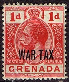Grenada 1916 King George V Head War Tax SG 111 Fine Mint SG 111 Scott MR2 Condition Fine LMM Only one post charge applied on multipule purchases