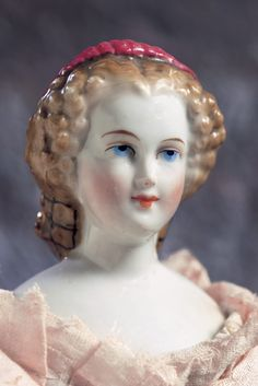 German Lady Doll with Elaborate Snood