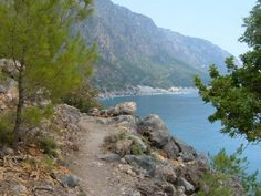 The path from Agia Roumeli to Agios Pavlos beach in South West Crete