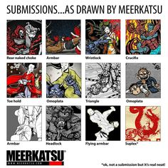 Submissions as drawn by Meerkatsu