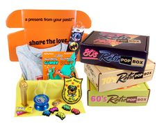 Get a monthly time capsule to your door of favorites from your youth. Based on…