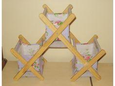 Cath Kidston Rose Wood Folding Rack Canvas Dressing Table Desk Organiser Jewellery Pockets Lavender Hyde Park Picture 1