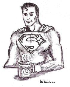 Superman's Monday - cartoon-drawing Fan Art