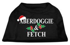 Aberdoggie Christmas Screen Print Shirt Black XXXL(20)
