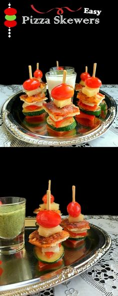 Easy Pizza Skewers : Quick n Delicious Holiday Appetizer. #NestleHoliday #ad #recipes #appetizer #pizza