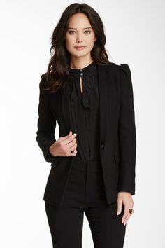 Tuxedo Wool Blend Blazer by Rachel Roy on @HauteLook