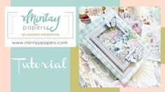 """#37   Folder with pockets with """"Happy place"""" collection   Janus Aragones... Mini Scrapbook Albums, Mini Albums, Paper Manufacturers, Sketches Tutorial, Janus, Crafty, Mix Media, Make It Yourself, Happy"""