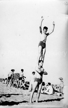 Vintage// Black and White Photo //Acrobatic by foundphotogallery