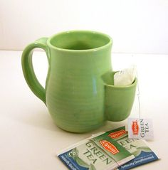Tea Drinkers Sidekick Mug - so cute! I mostly drink full-leaf teas, but I have a few bagged ones that this would be great for.