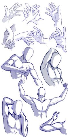 Hands and arms practice by Mrakobulka on DeviantArt Hands and arms practice by Mrakobulka on deviantART<br> Arm Drawing, Hand Drawing Reference, Anime Poses Reference, Drawing Base, Drawing Poses Male, Body Drawing, Drawing Tips, Anatomy Art, Anatomy Drawing