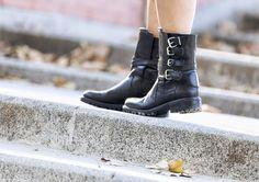 street style barbara crespo customized denim pepe jeans follow my own star fashion blogger outfit blog de moda front row shop
