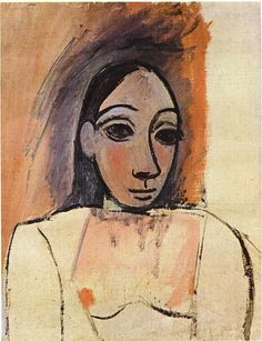Bust of woman, 1907   Pablo Picasso