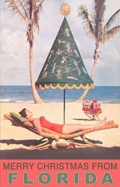Vintage Travel vintage florida christmas - Florida at Christmastime is the best. They know how to do up Christmas! Merry Christmas, Beach Christmas, Coastal Christmas, All Things Christmas, Christmas Holidays, Christmas Decorations, Xmas, Christmas Florida, California Christmas