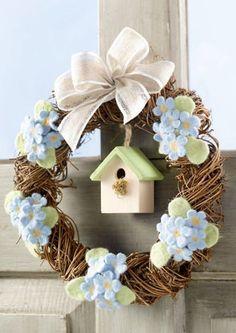 :) Diy Wreath, Grapevine Wreath, Wreaths, Diy Ostern, Summer Wreath, Easter Crafts, Creative Art, Bunt, Garland