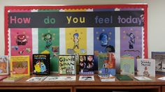 """""""How do you feel today? Early Years Displays, Class Displays, Library Displays, Preschool Displays, Literacy Display, Primary Classroom Displays, Eyfs Classroom, Disney Classroom, Nursery Display Boards"""