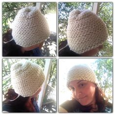 Too small for my head but I like it. Finger Knitting Projects, Knitted Hats, Crochet Hats, Arms, Crafty, Fun, Hair, Knitting Hats, Strengthen Hair