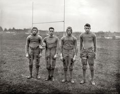 Little known football fact. Gallaudet University School for the deaf football team invented the Huddle to keep their plays secret. (via Shorpy)