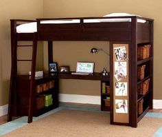 All In One : Study Deck, Storage And Bed For Kids Bedroom Decorating