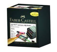 Faber-Castell Pitt Artist Big Brush Pens (Set of 24) #FaberCastell