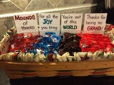Mounds, Joy, World, Grand!