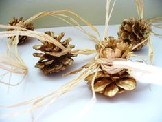 Etsy Wedding Garland Pinecone Gold Rustic Woodsy by kzannoart