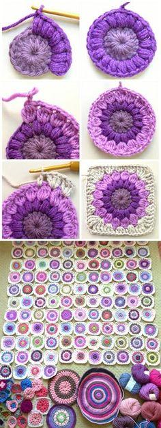 Sunburst Crochet Granny Square Pattern Tutorial