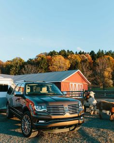 Sometimes the toughest jobs call for a soft touch. The 2015 Lincoln Navigator combines best-in-class towing with warm, soft-to-the-touch Geneva leather. Shot at Spruce Ridge Farm in Old Chatham, NY.
