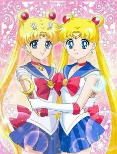 Sailor moon art comparison. This is so cool and they both look adorable. Whoever…