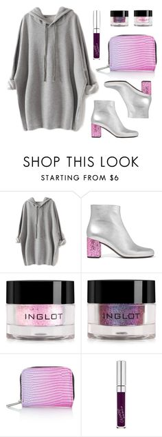 """""""Unicorn baby"""" by baludna ❤ liked on Polyvore featuring Yves Saint Laurent, Inglot, Topshop and GUESS"""