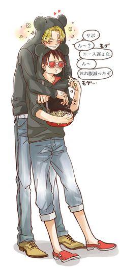 Sabo x Luffy, SaboLu, ASL
