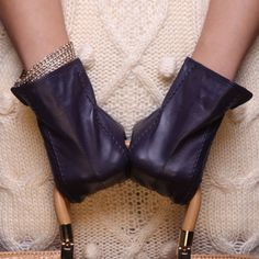 Ladies-Woman-Genuine-Nappa-Leather-Dress-Warm-Gloves-Many-Color-On-Sale-085