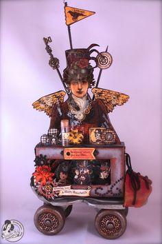 Denise Hahn makes a Steampunk vintage roller skate using Steampunk Spells and the Small Matchbook Box from our Staples collection! Wow wow! #graphic45