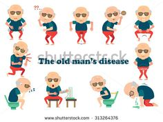 The old man's disease Infographic.vector illustration - stock vector