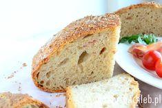 Chleb wiejski z boczkiem, przygotowany na prefermencie drożdżowym. Przepis naprawdę prosty, a sam chleb pyszny i aromatyczny. Z podanych proporcji wychodzą dwa średniej wielkości chleby, mniej więcej o średnicy 25 cm. Można zatem zmniejszyć proporcje o połowę, jeśli chcecie upiec […] Bread, Food, Brot, Essen, Baking, Meals, Breads, Buns, Yemek