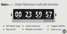 Gaurm - Simple Maintenance mode with animation . Maintenance mode with