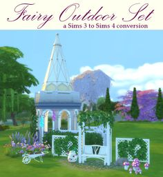 Leander Belgraves - Fairy Outdoor Set a Sims 3 to Sims 4 Conversion...
