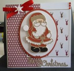 Card made using the new Tonic Rococo xmas die collection and also using their xmas paper packs