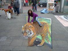 50 More Breathtaking 3d Street Art (paintings)  TV Tiger Artist Edgar Mueller