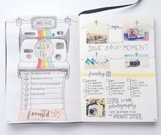 We're loving the playful retro feel of this layout by @studieangel! Who else uses photos in their journal?  We'd love to get our hands on a Polaroid Snap. Anyone using similar?
