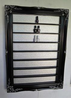 Nail polish rack display frame black high by ChicybeeDisplayUK