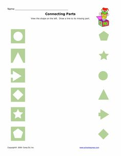 Matching - Free printables for visual perceptual skills